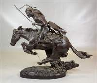 After Frederick Remington The Cheyenne bronze