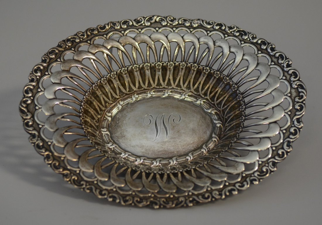 """Black Starr & Frost reticulated sterling bowl, 10-1/4"""""""