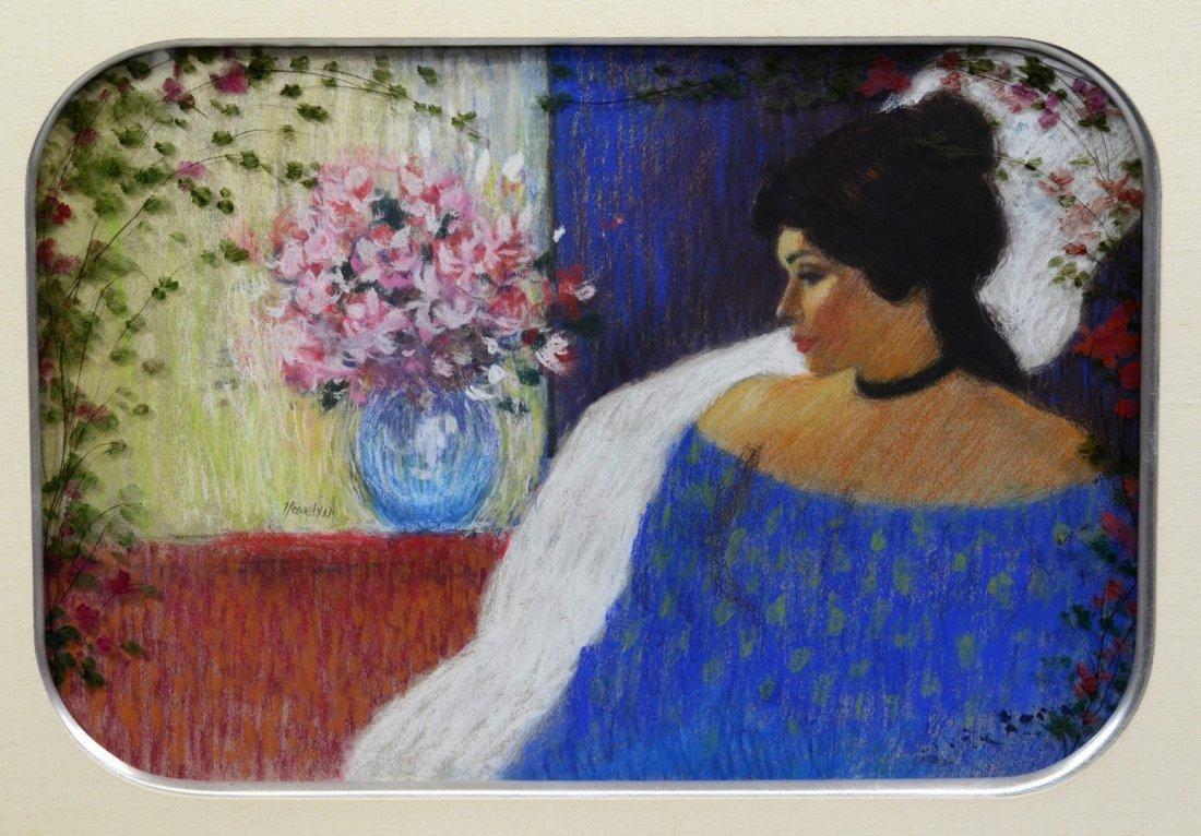 James Llewelyn (American, 20th Century), pastel ,