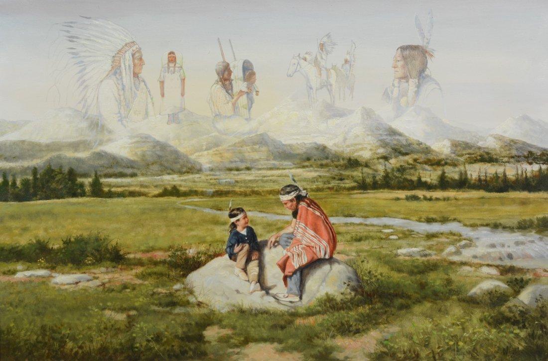 John West (American, 20th Century), oil on canvas,
