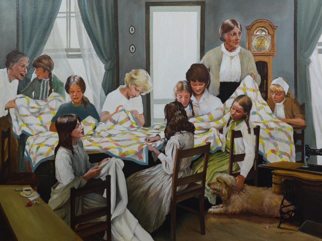 "Paul MacWilliams (American, PA, 20th Century) ""Family"