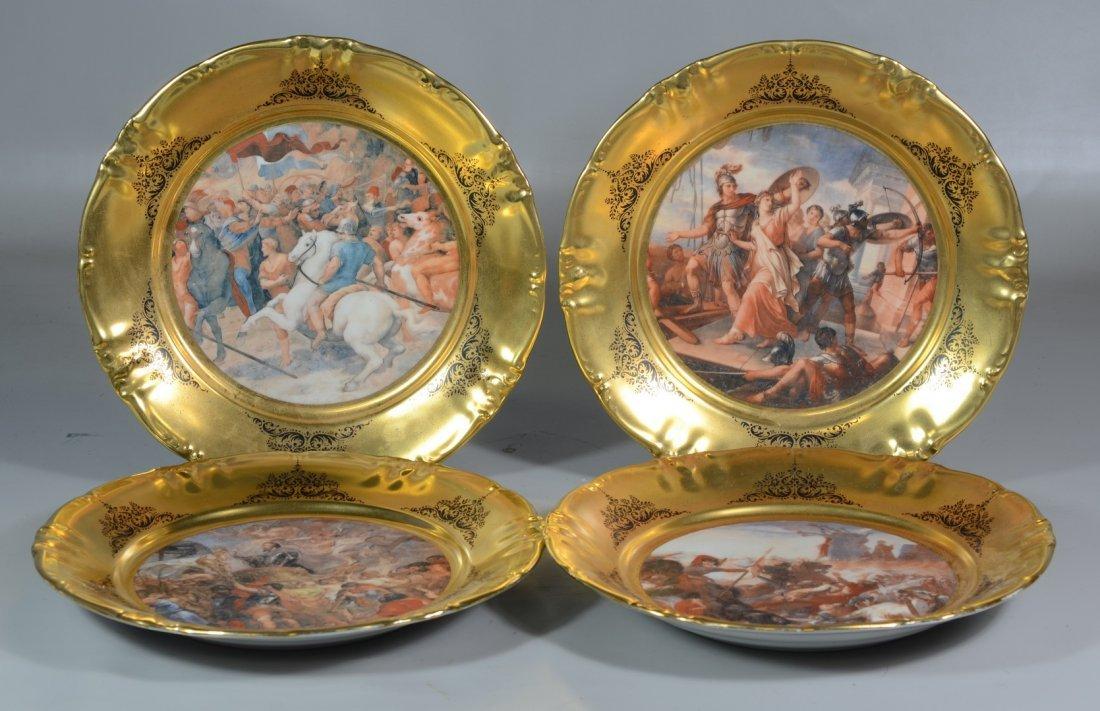 Winterling German Bavarian gilt border plates with