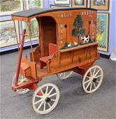 """Scale model of """"Eagle Dairy/Butter"""" horse drawn"""
