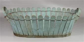 Blue oval stick basket wire  metal banding 25 l x