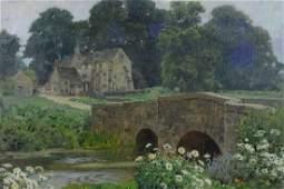 Anna Richards Brewster (American, 1870-1952), oil on