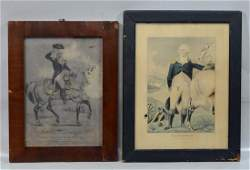 2 Currier  Ives George Washington prints