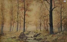 Raphael Senseman (American, NJ, 1870-1966), watercolor,