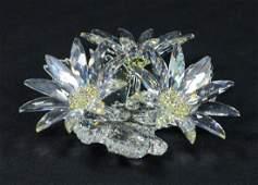 Swarovski crystal Maxi Flower figurine original case