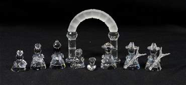 Lot of Swarovski crystal Nativity pieces Mary Joseph