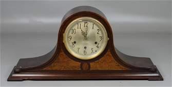 Seth Thomas mahogany tambour clock with Westminster