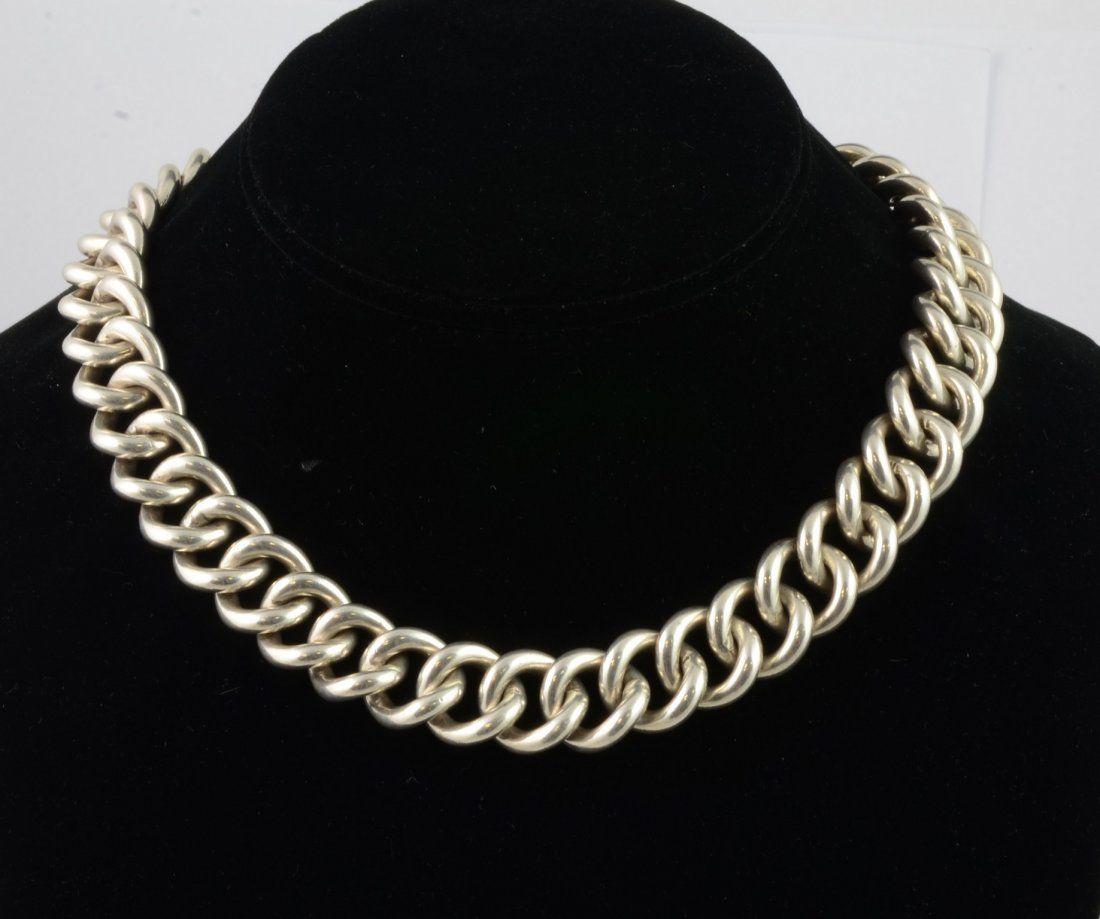Vintage Ralph Lauren handmade sterling silver necklace,