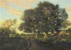 Henry Pember Smith (American, 1854-1907), oil on