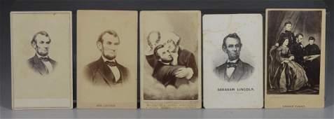 (5) Abraham Lincoln carte de visites, consisting of (1)