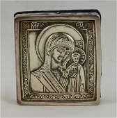 "Henryk Winograd Pure Silver Icon ""Madonna of Kazan"""