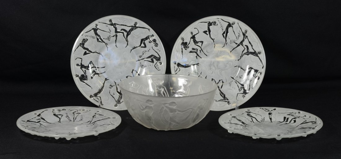 (5) Pieces Phoenix Glass Consolidated with Dancing