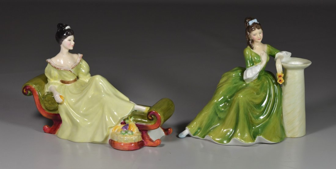 (2) Royal Doulton bone china figurines, Secret Thoughts