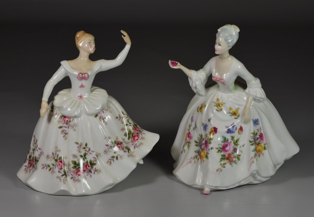 (2) Royal Doulton bone china figurines, Shirley HN