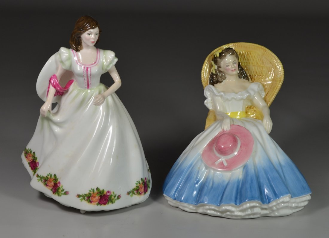 (2) Royal Doulton bone china figurines, Annabel HN