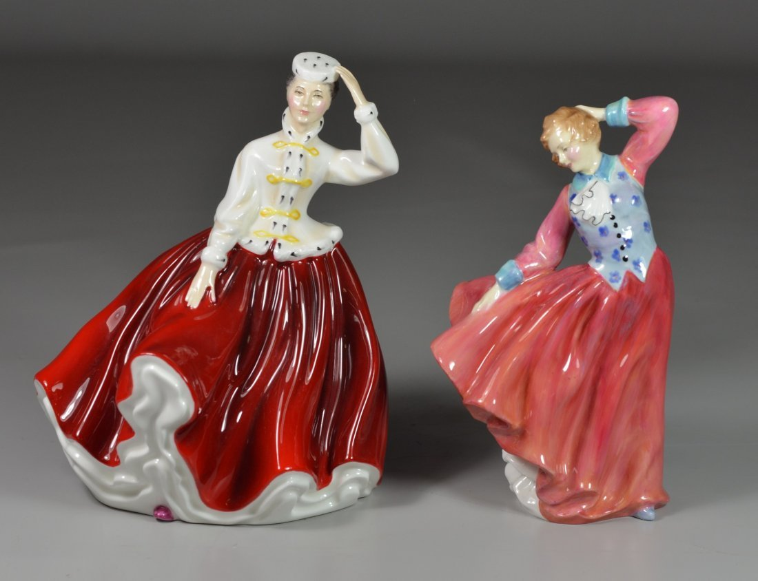 (2) Royal Doulton bone china figurines, Judith HN 2089,