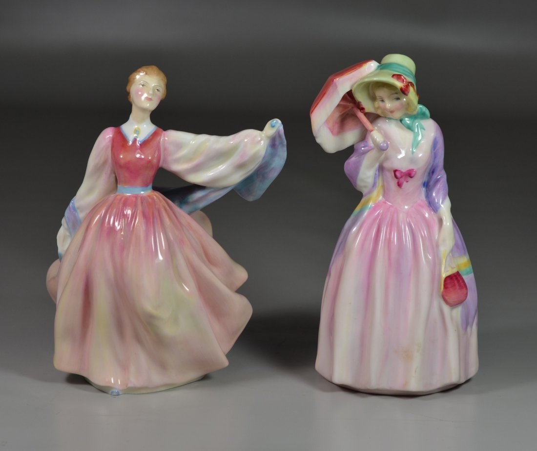 (2) Royal Doulton bone china figurines, Miss Demure HN