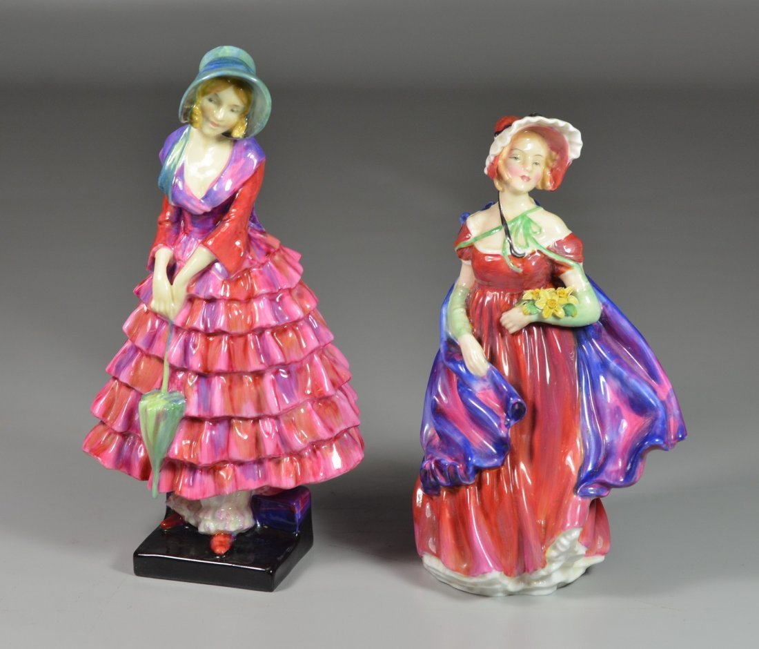 (2) Royal Doulton bone china figurines, Priscilla HN
