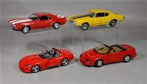 4 Scale model cars Ertl 1969 Chevrolet Camaro Z28