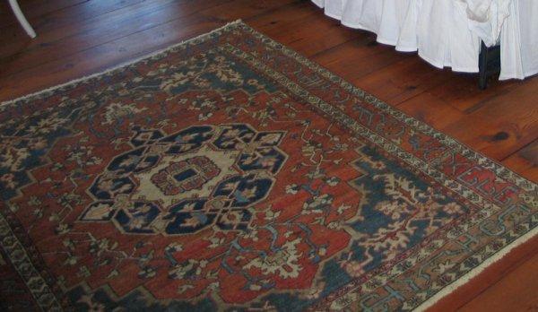 """8: 4' 3"""" x 5' 8"""" Turkish throw rug. *HFH."""