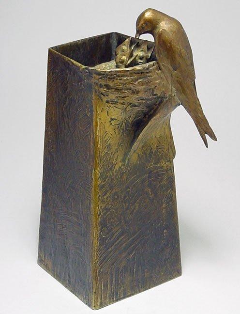 189A: Adolf Pohl bronze vase