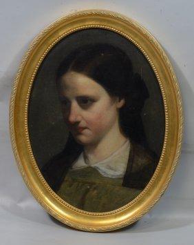 American School (18th/19th Century), Oil On Canvas Laid