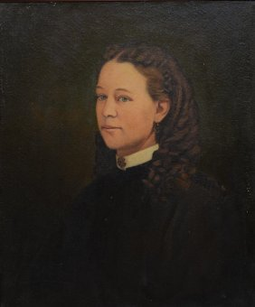 American School (20th Century), Oil On Canvas, Portrait