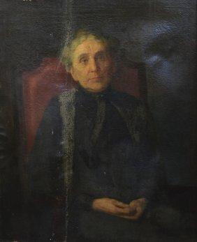 American School (19th/20th Century), Oil On Canvas,