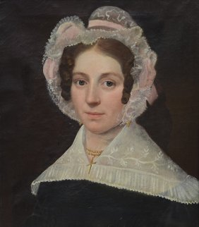 American School (19th Century), Oil On Canvas, Lady In