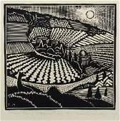 Wharton Esherick (American, 1887-1970), woodcut on