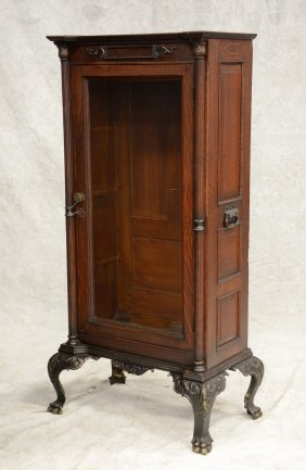 "Oak Cabinet For A Mills ""dewey"" Model Slot Machine,"
