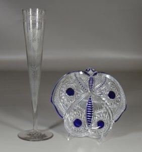 Baccarat Limited Edition Crystal Moth Dish No. 43/50, 8