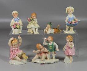 (7) Karl Ens German Porcelain Children Figurines,