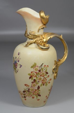 Rudolstadt Germany Gilt And Floral Decorated Porcelain