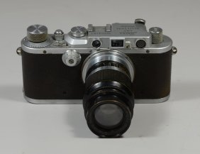 Leica Iiia 35 Mm Viewfinder Camera, Sn 203781, C 1936,