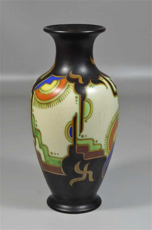 Gouda Vase Marked Royal Goedewaagen Gouda Holland 438