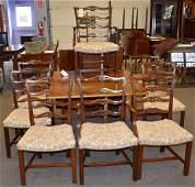 Mahogany Hepplewhite style drop leaf dining room table