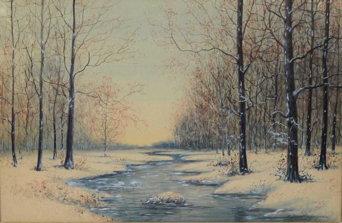 Raphael Senseman (American, NJ, 1870-1966), watercolor