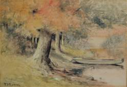 Elbridge J Fenn (American, 1857-1934), watercolor,