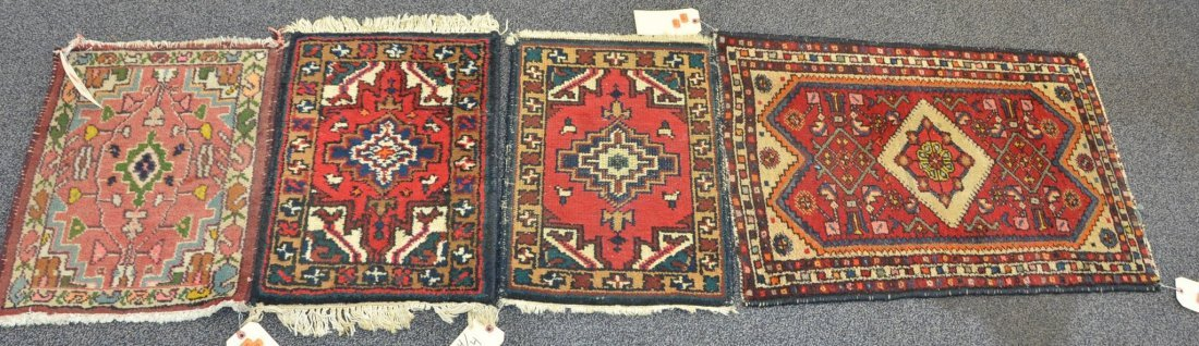 "(4) Oriental Throw Rugs, 1'10"" x 2'8""; 1'6"" x 1'1""; 1'4"