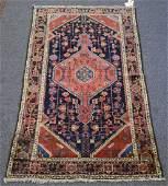 """Caucasian throw rug, 4' x 6'6"""""""
