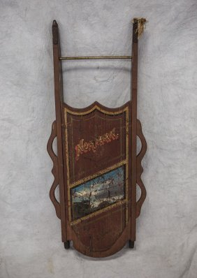 """Norman Painted Sled, 39"""""""