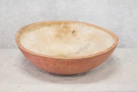 "Salmon Painted Bowl, 20"""