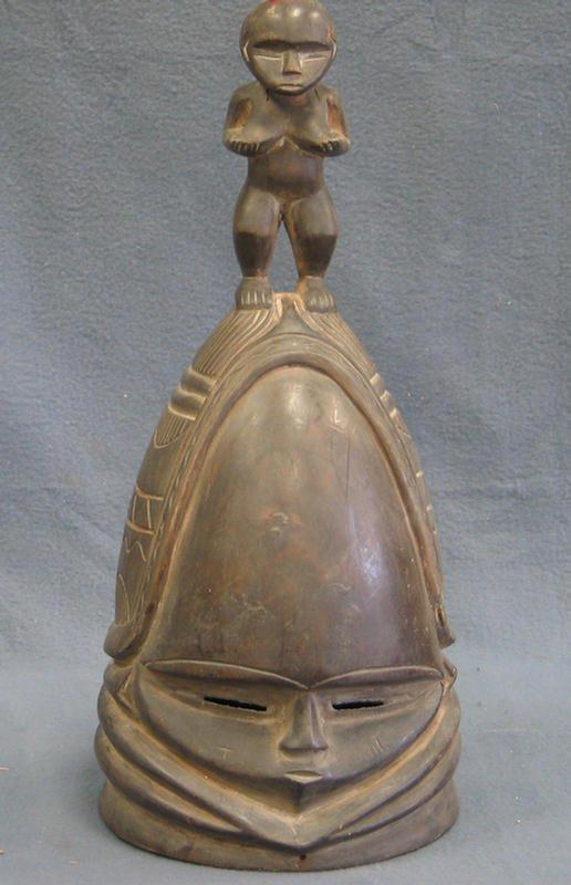 4: Female Sande Secret Society mask, Mende Tribe, Sierr