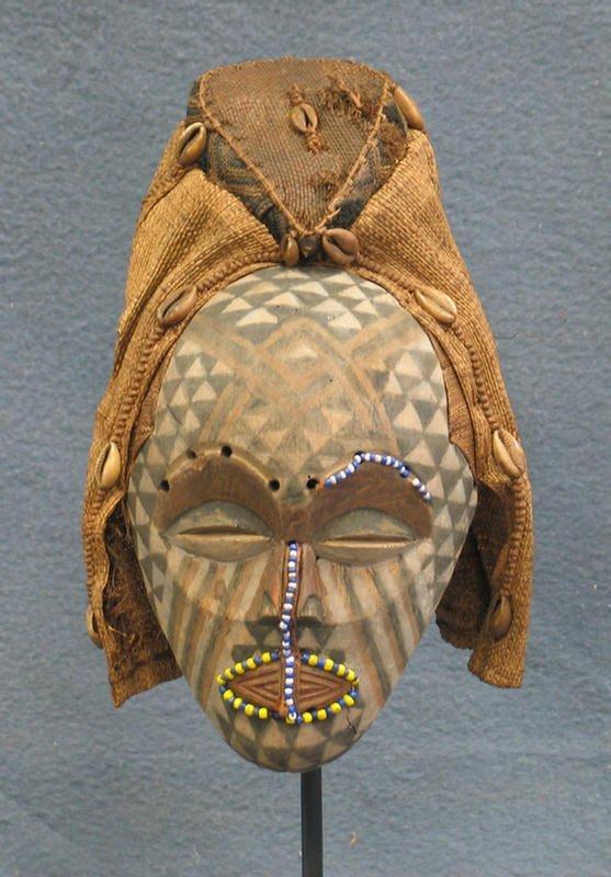 6: Kuba Bwoong mask, Kuba Tribe, Congo (1990)