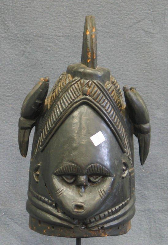 7: Female Sande Secret Society mask, Mende Tribe, Sierr