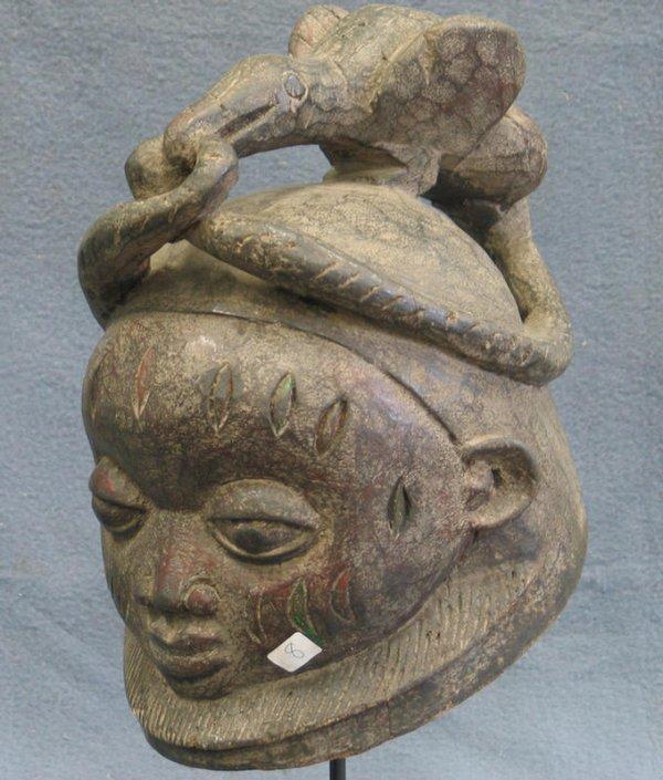8: Female Sande Secret Society mask, Mende Tribe, Sierr